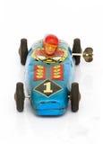 Tin car. Vintage tin racing car  close up Royalty Free Stock Image