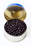 Tin with chocolate caviar Royalty Free Stock Image