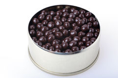 Tin with chocolate caviar Royalty Free Stock Photography