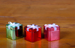 Tin Christmas boxes Royalty Free Stock Photo