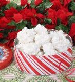 Tin of Christmas Cookies Stock Photos
