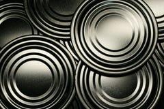 Tin Circle shape on bottom of tin can Royalty Free Stock Image
