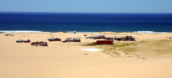 Free Tin City On Stockton Beach Royalty Free Stock Photos - 74269218