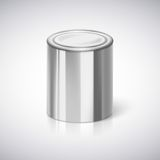 Tin closeup with reflection. Royalty Free Stock Photography