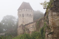 The Tin Coaters Tower in fog Stock Photos
