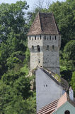 Tin Coaters Tower Sighisoara, Roumanie Image libre de droits