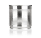 Tin containers without labels Royalty Free Stock Photography