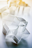 Tin cookie cutters Royalty Free Stock Photography