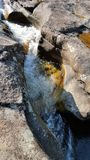 Tin Cup Creek. Water flowing through the natural cups of Tin Cup Creek Royalty Free Stock Photo