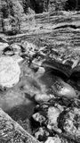 Tin Cup Creek. Water flowing through the natural cups of Tin Cup Creek Stock Photography