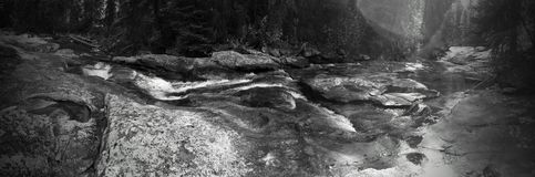 Tin cup panoramic- darby,mt 8/16/15. Black and white panaramic Stock Image