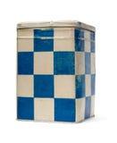 tin för blom- gammala prydnadar för ask fyrkantig Royaltyfria Bilder