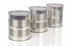 tin för cans tre royaltyfria bilder