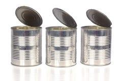 tin för cans tre arkivbild