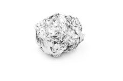 Tin foil recycling Stock Images