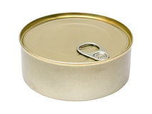 Tin food can of food isolated on white background Stock Photography