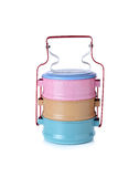 Tin food carrier on white Stock Images