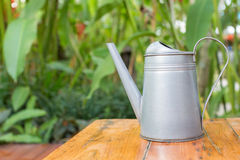 Tin garden watering can Royalty Free Stock Photo