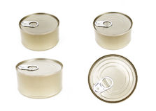 tin golden aluminum canned Royalty Free Stock Photo