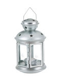 Tin grey lantern Stock Photos