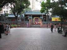 Tin Hau temple complex, Yau Ma Tei, Kowloon, Hong Kong stock photos