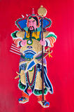 Tin Hau Temple door god stock photos