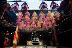 Tin Hau Temple Interior, rua do templo, Yaumatei, Hong Kong foto de stock royalty free