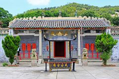 Tin Hau Temple, Macau, China. Tin Hau Temple is the largest temple in Coloane and is located at the back of the village. The Tin Hau Temple was built in 1763 stock photography