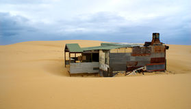 Tin House. In the middle of a desert Royalty Free Stock Photography