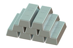 Tin ingots Royalty Free Stock Images