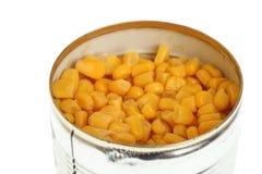 Tin isolated on white background. Tin maize, corn isolated on white background Royalty Free Stock Image