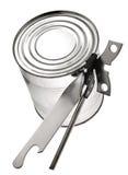 Tin with key Royalty Free Stock Photos