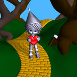 Tin Man Offers His Heart stock photo