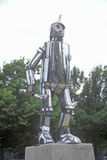 Tin Man Statue at Oz Park, Chicago, Illinois Stock Photos