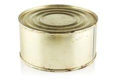 Tin met ingeblikt voedsel. royalty-vrije stock afbeelding
