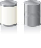Tin metal can Stock Image