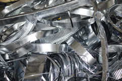 Tin metal scrap Stock Images