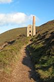 Tin mine. A tin mine on the cornish coast Royalty Free Stock Photos