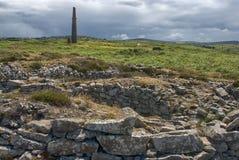 Tin Mine At Ballowall Barrow images stock