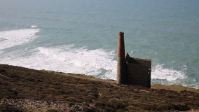 Tin mine coast of Cornwall UK stock video