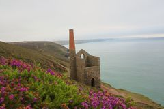 Tin mine Cornwall. Picture taken in Cornwall of a tin mine Royalty Free Stock Image
