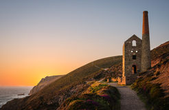Tin Mine At St Agnes, les Cornouailles, Angleterre Image libre de droits