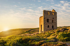 Tin Mine At St Agnes, les Cornouailles, Angleterre Photos libres de droits