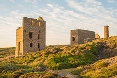 Tin Mine At St Agnes, les Cornouailles, Angleterre Images libres de droits