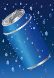Tin with mineral water Stock Images