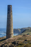 Tin mines on the cliff Stock Image