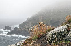 Tin Mines in the Ocean Fog Stock Photography
