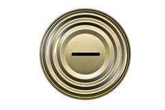 Tin money box Royalty Free Stock Images