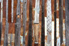 Tin'n'wood texture Royalty Free Stock Photo