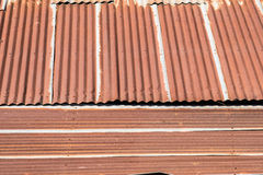 Tin old roof with rust home Royalty Free Stock Images